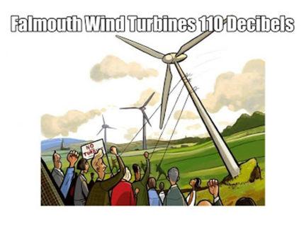 Falmouth Wind Turbines 110 Decibels