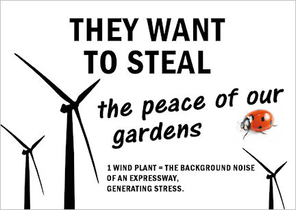 They want to steal the peace of our gardens
