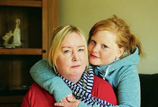 Jenny Spittle and her daughter Billie