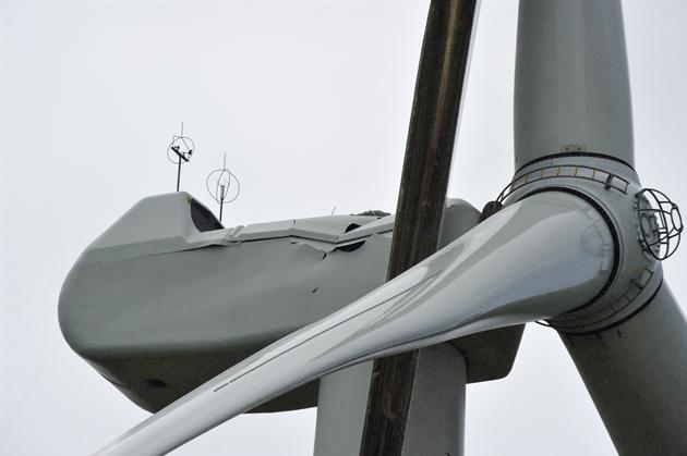 Dent in the wind turbine