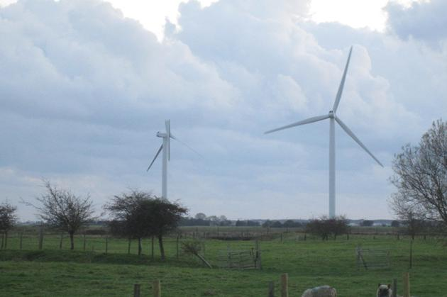 One of the 26 wind turbines in the area