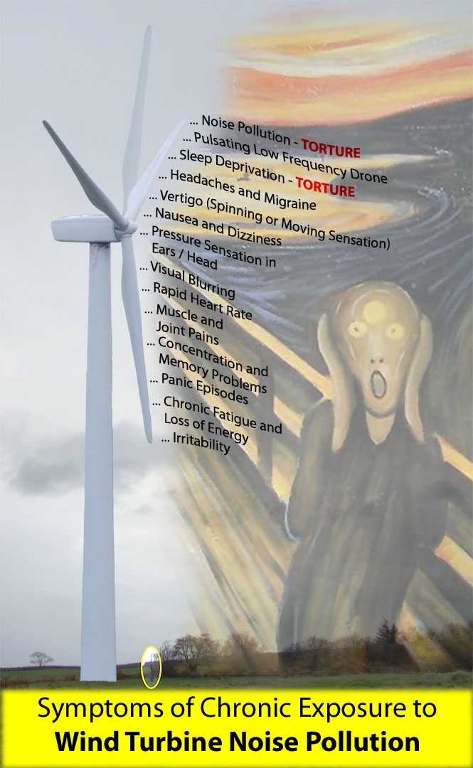 Symptoms of Chronic Exposure to Wind Turbine Noise Pollution