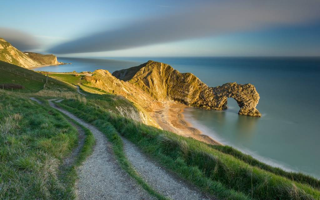 The last of the evening light on Durdle Door, Jurassic Coast, Dorset