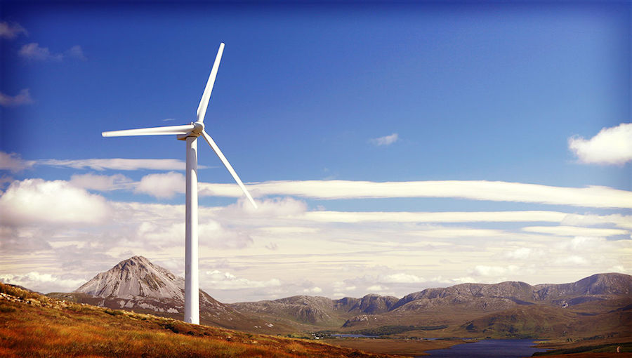 Wind turbine in Ireland