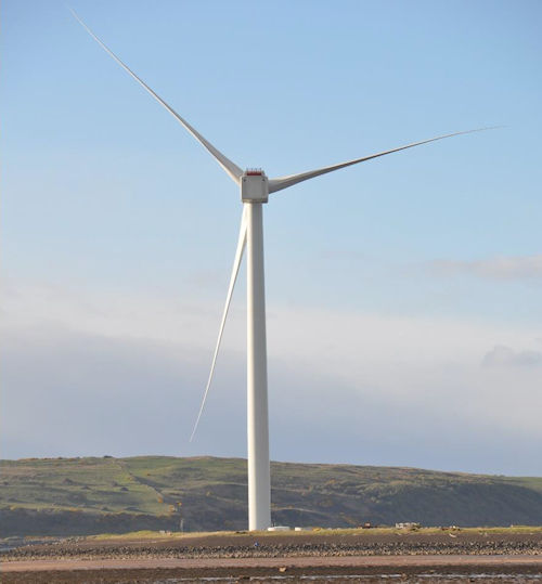 Wind turbine at Hunterston