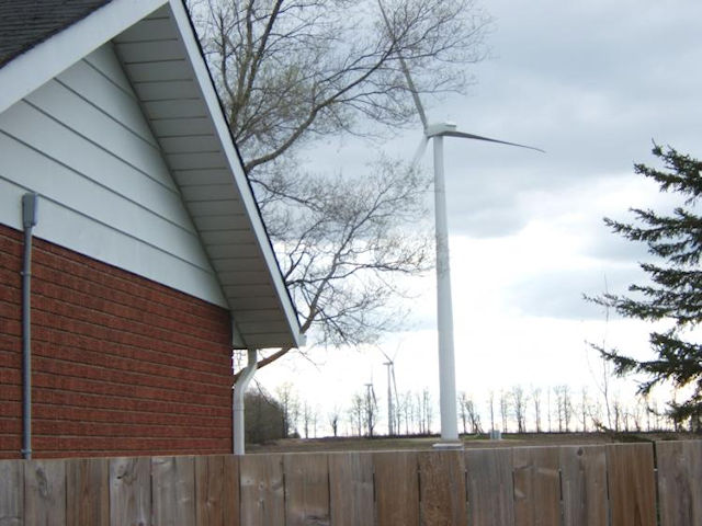 Wind turbine near Barbara Ashbee's home