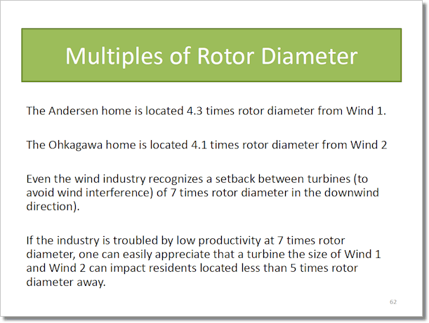 Multiples of Rotor Diameter